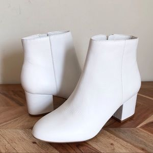Aldo | NEW White Leather Ankle Booties